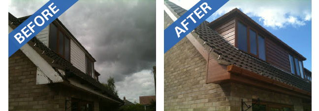Rotten fascias can cause damage to your roof structure